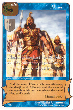 Abner The Kings Redemption CCG Card