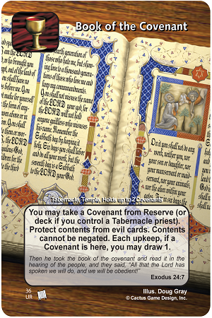 Book of Covenant Prophecies of Christ Redemption CCG Card Picture Image