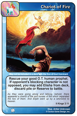 Chariot of Fire Prophecies of Christ Redemption CCG Card Picture Image