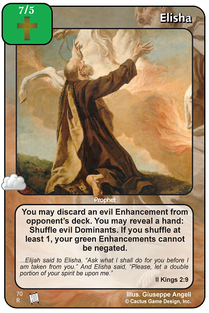 Elisha Prophecies of Christ Redemption CCG Card Picture Image