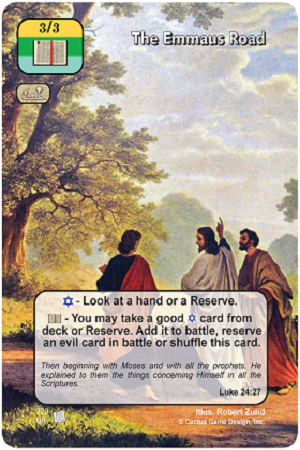 The Emmaus Road Prophecies of Christ Redemption CCG Card Picture Image